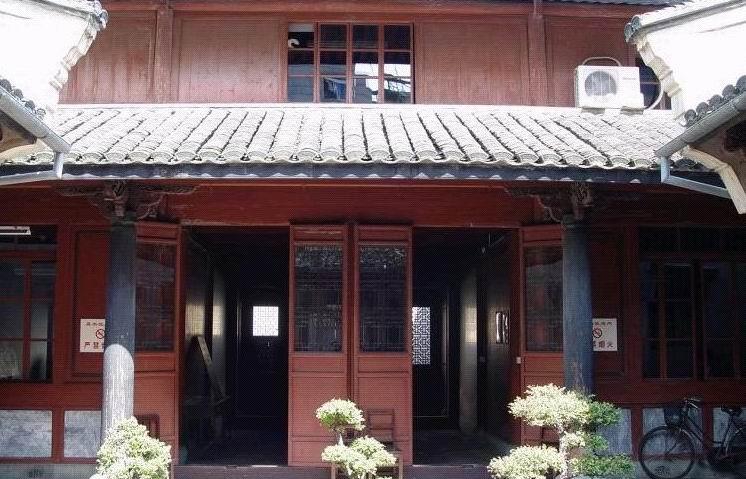 浙江宁海仿古木结构建筑图片